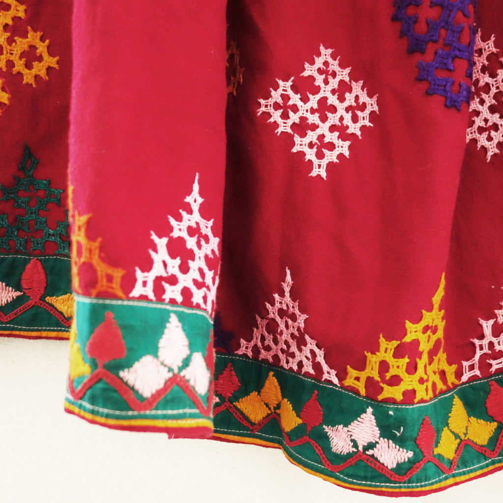 Vintage Embroidered Banjara Tribal Skirt