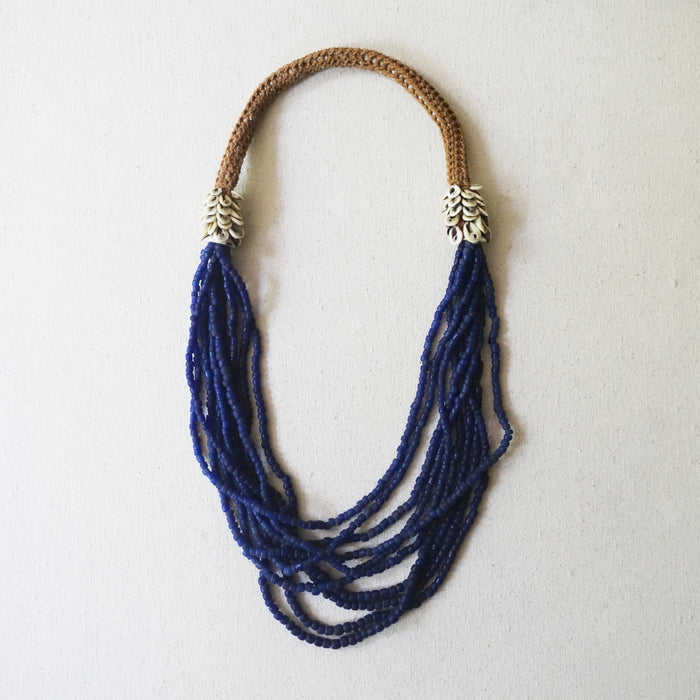 Beaded Necklace - Indigo