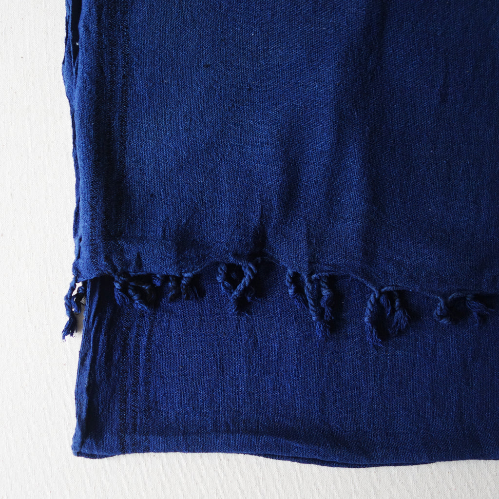 Indigo Raw Silk Scarf