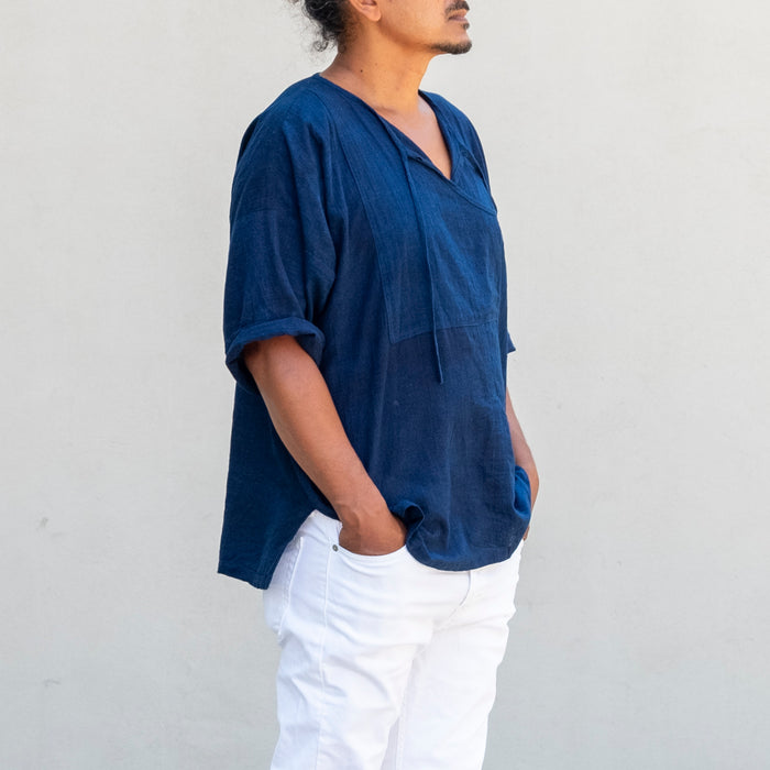 Indigo Fisherman Shirt