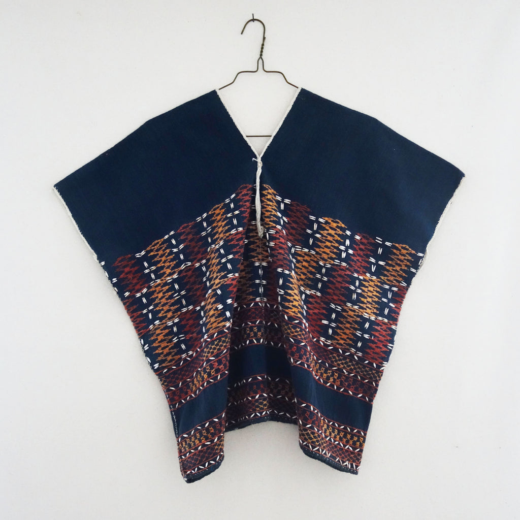 Karen Top Indigo Rust