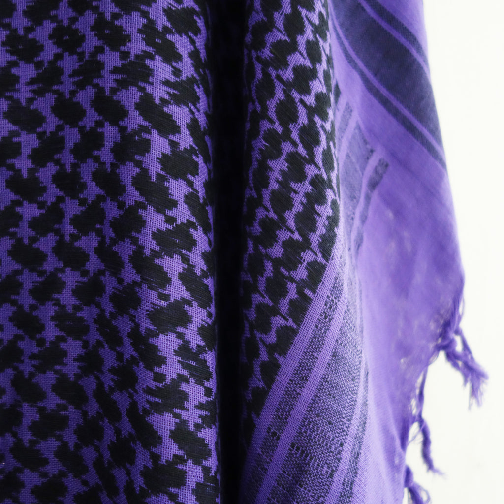 Keffiyeh kaftan purple