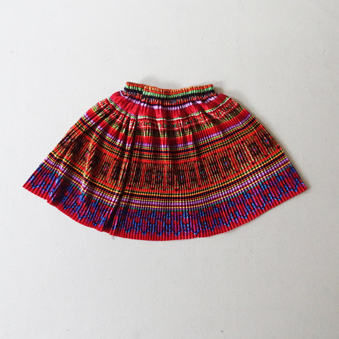 Flower hmong skirt - orange