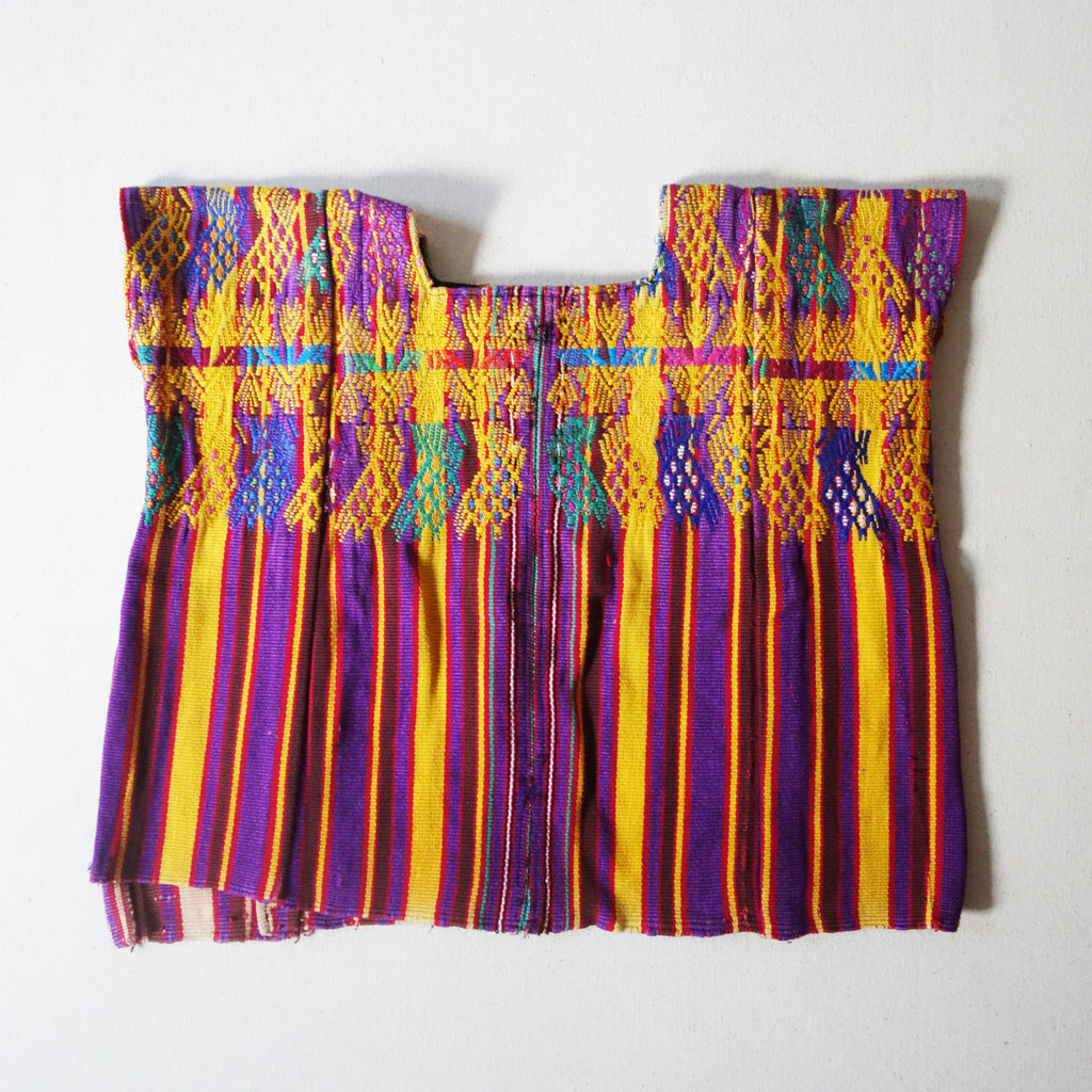 Embroidered Huipil Mustard/Purple (8-10Y)