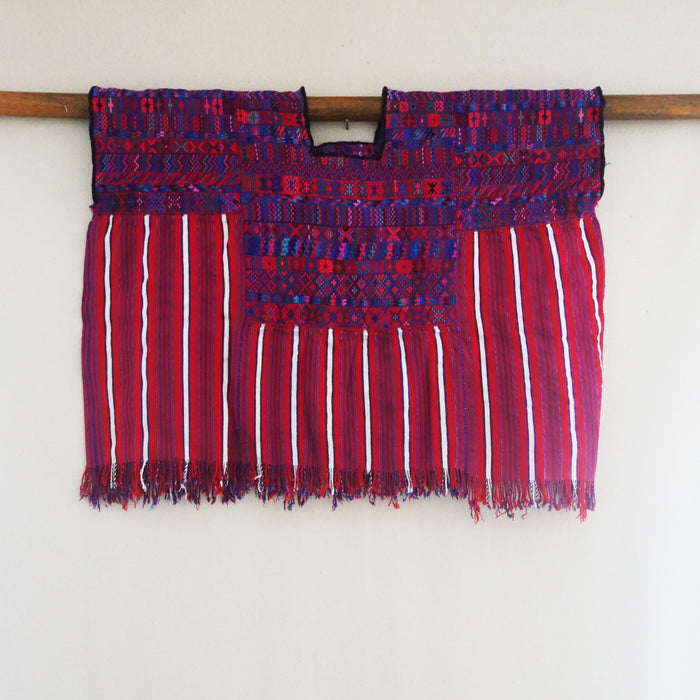 Embroidered Red Huipil Top