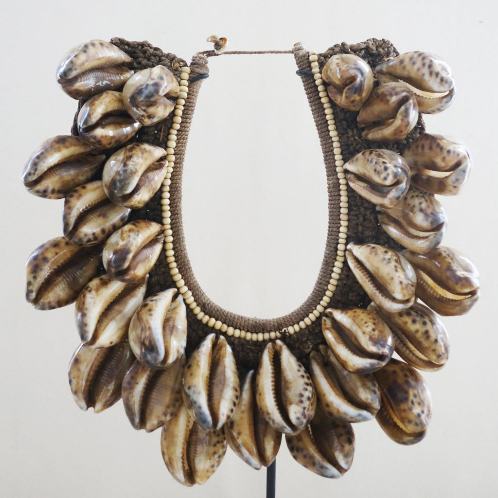 Vintage Spotted Ovula Shell Necklace