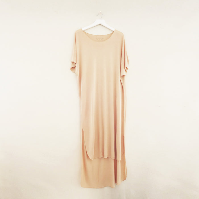 Ubud Tee Dress Nude