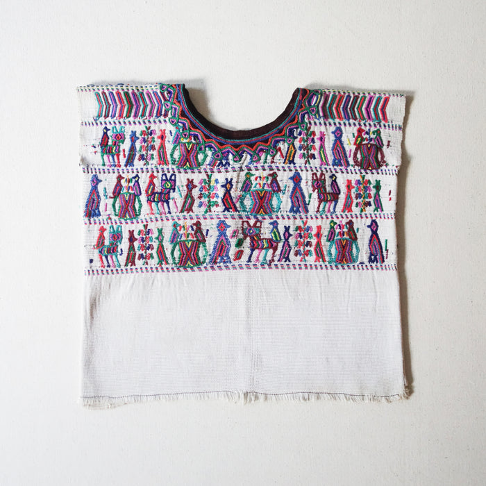 Embroidered Huipil Multicolor/White (4Y)