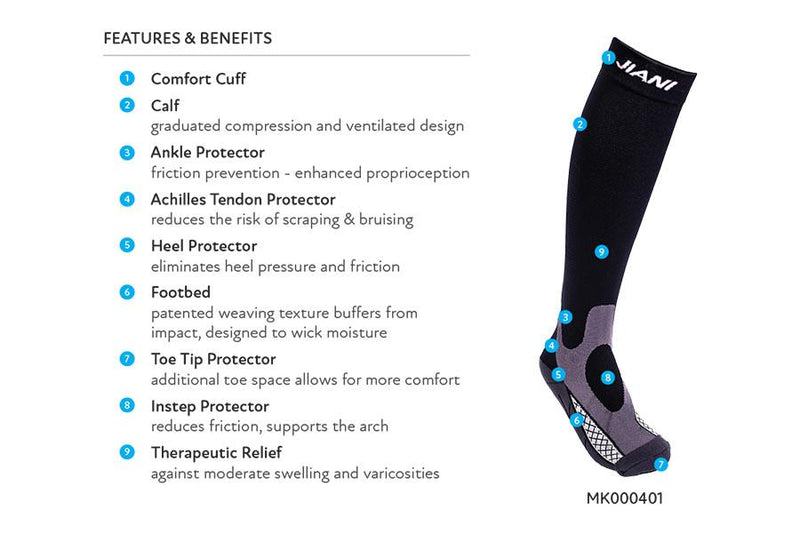Jiani MK00SK01 BUSINESS 20-30mmHg Compression Socks