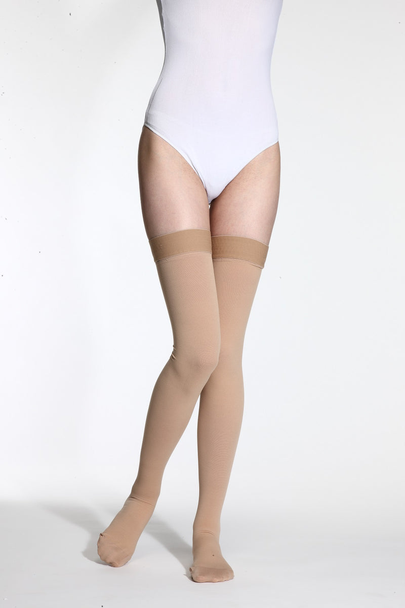 Jiani MEDICAL Thigh High 20-30mmHg Compression Socks Color Beige