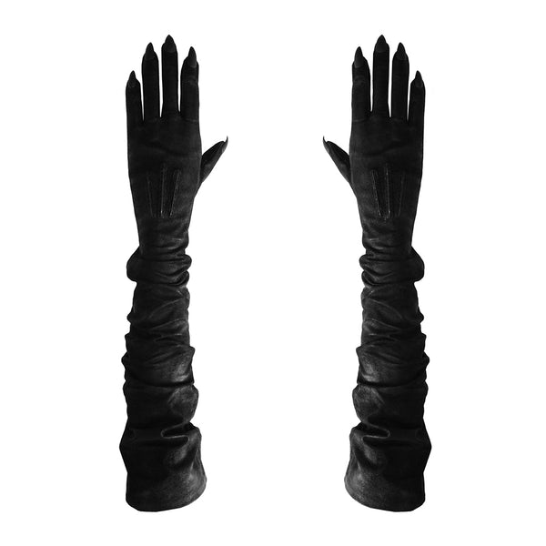 VEGAN BLACK OPERA STILETTO NAIL GLOVES