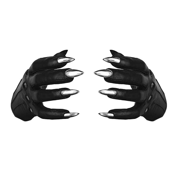 VEGAN BLACK SARAH NAIL GLOVES