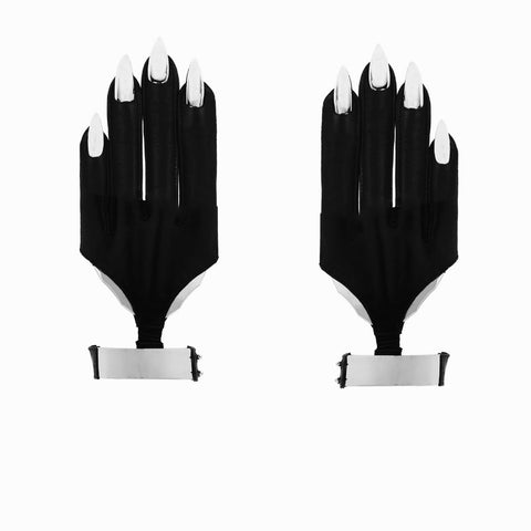 METAL CUFF BLADE NAIL GLOVES