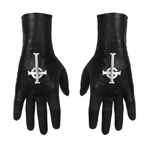 VEGAN MAJESTY BLACK X GHOST CARDINAL COPIA BONES CROSS GLOVES