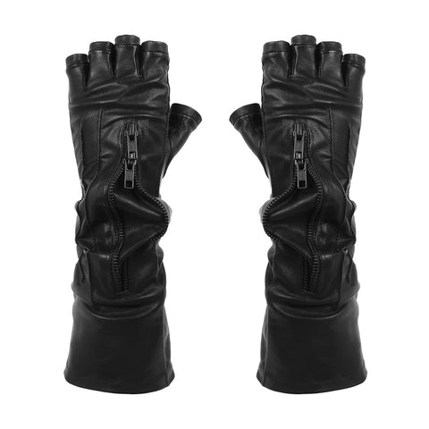 IN STOCK LONG FINGER CUFF DOUBLE ZIP GLOVES