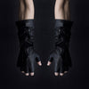 LONG FINGER CUFF DOUBLE ZIP GLOVES