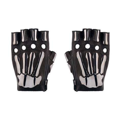 IN STOCK FINGERLESS METAL BONES GLOVES