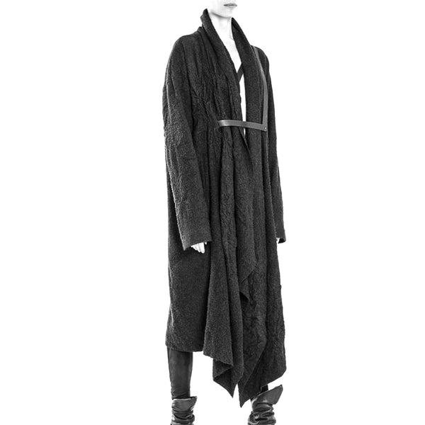 HAND MOLDED WOOL COAT