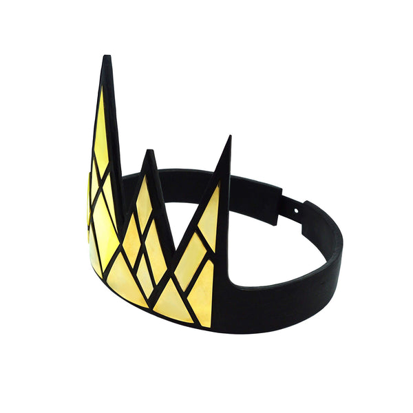 ORNATE VEGAN LEATHER CROWN
