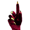 RUBY RED VELVET OPERA NAIL GLOVES