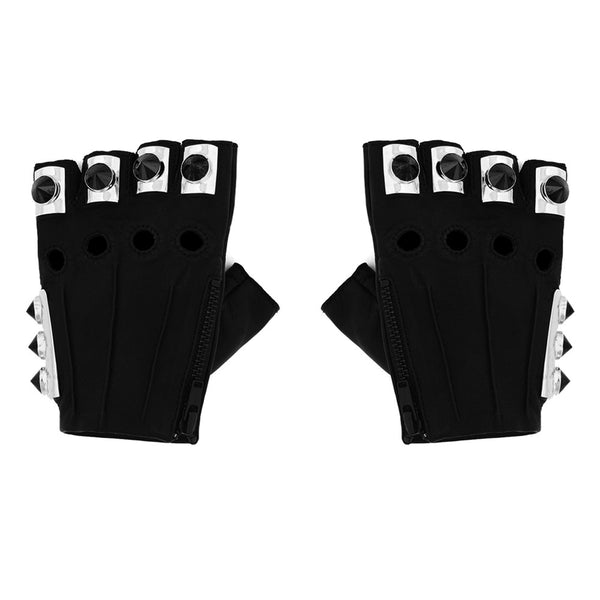 GEMSTONE CONE SPIKE ARMOR GLOVES
