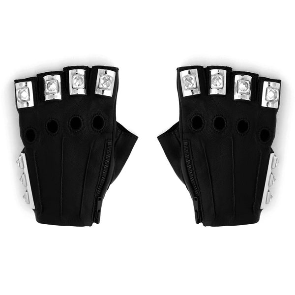 GEMSTONE PYRAMID SPIKE ARMOR GLOVES