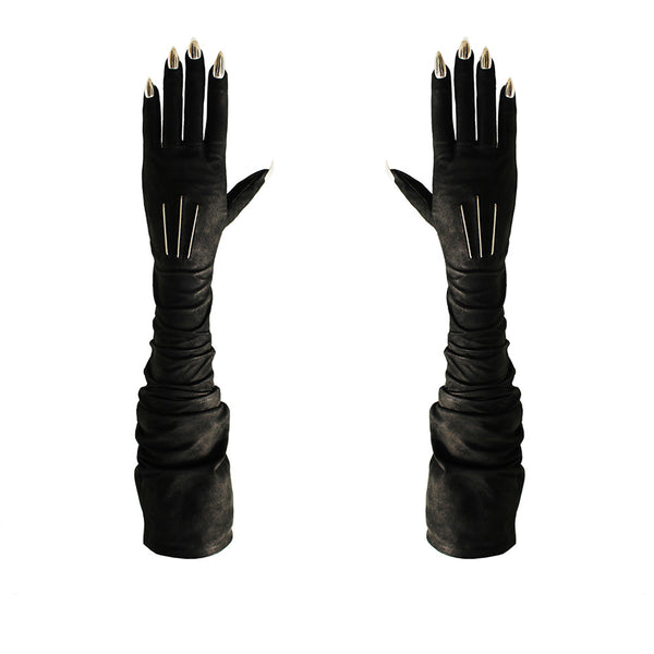 BLACK OPERA STILETTO NAIL GLOVES