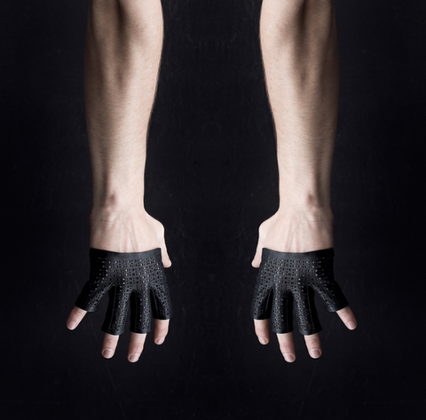 LEATHER LASER FOUR FINGER GLOVES