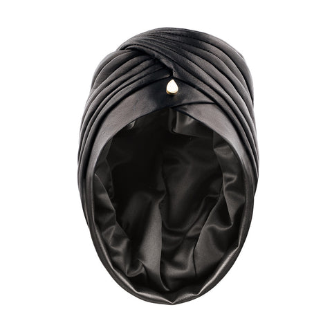 IN STOCK VEGAN LEATHER MATA HARI HAT