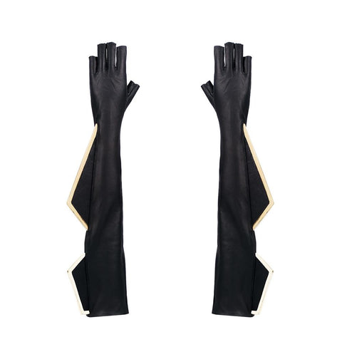 METAL FIN FINGERLESS OPERA GLOVES