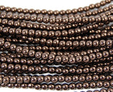 Chocolate Bronze 4mm round czech beads   - 100, czech druk, Bead Girlz Boutique - 3