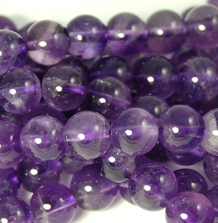 Purple Amethyst  Beads Strand of 12 Inches