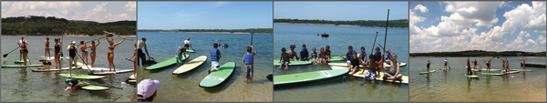 Stand up Paddleboard parties and group rental san antonio