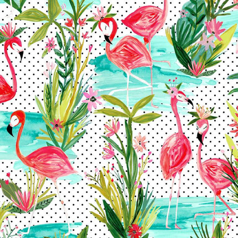 Windham - Flamingos by the Pond Fabric