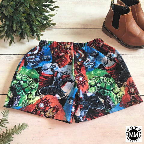 Avengers Multi - Boys Shorts