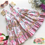 Baby Animal Main Bambi White Hummingbird Dress - Pre Order