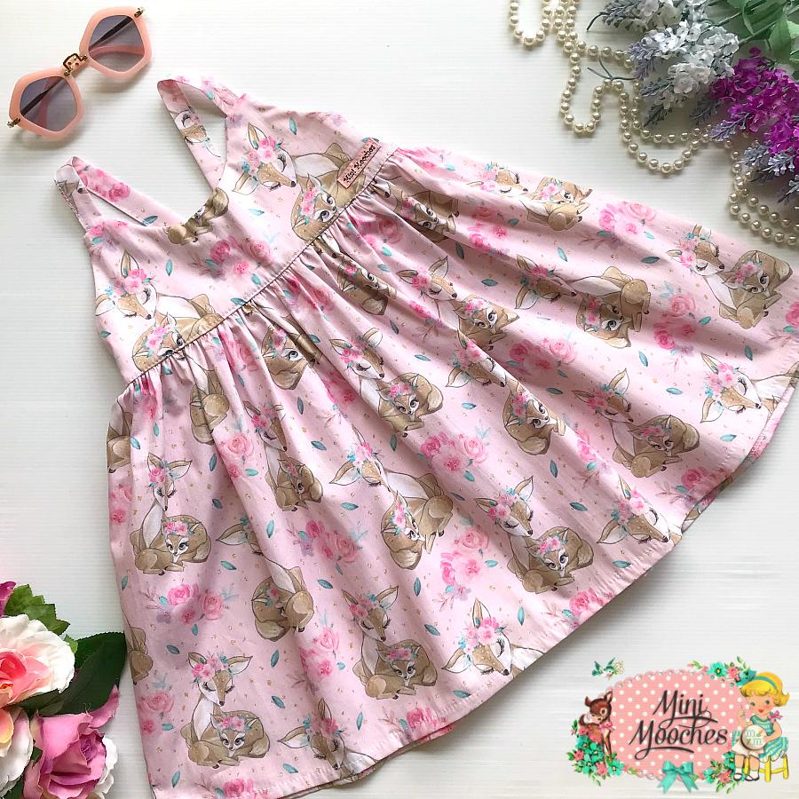 Baby Animal Pink Bambi Hummingbird Dress