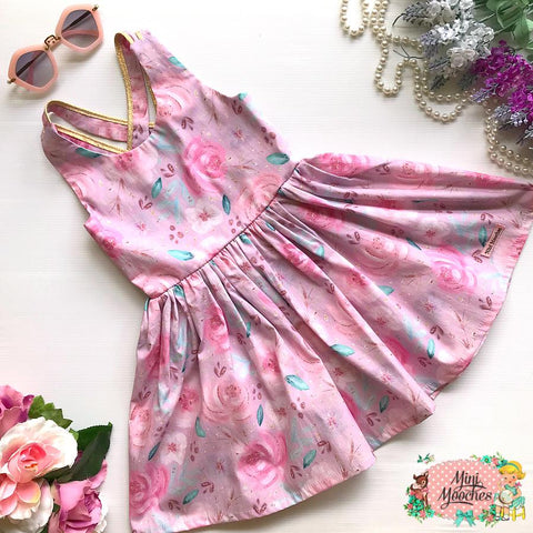 Baby Animal Pink Floral Stella Dress - Pre Order!