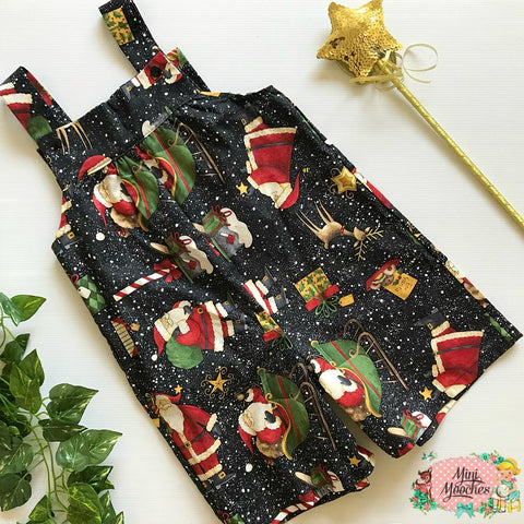 Black Santa Boys Overalls - In Stock