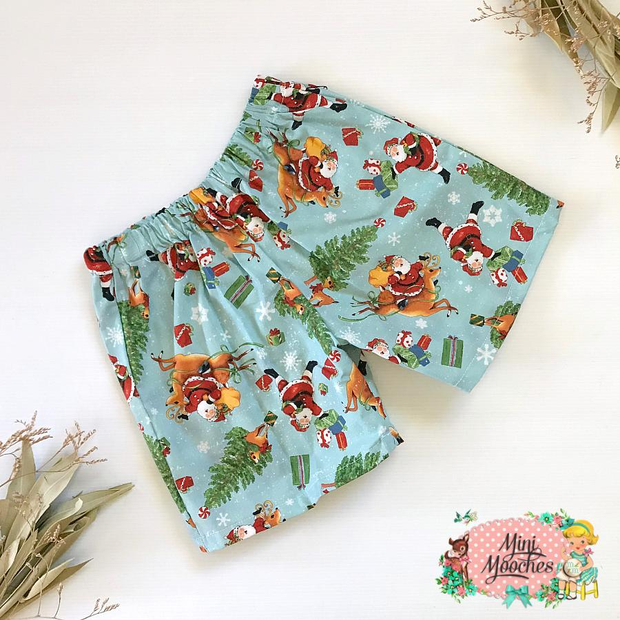 Light Blue Santa Boys Shorts