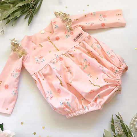 Golden Brambleberry Tea Party Romper