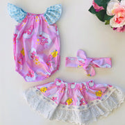 Carebears Twirly Skirt & Head Scarf - Mini Mooches is an Australian owned business specialising in handmade clothing and accessories for girls aged between 1-10. Beautifully designed Floral Dresses, Peplum Tops, Suspender skirts and shorts. Special occasions to everyday wear.
