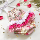Pre Order Cheeky Santa 3frill Play-suit