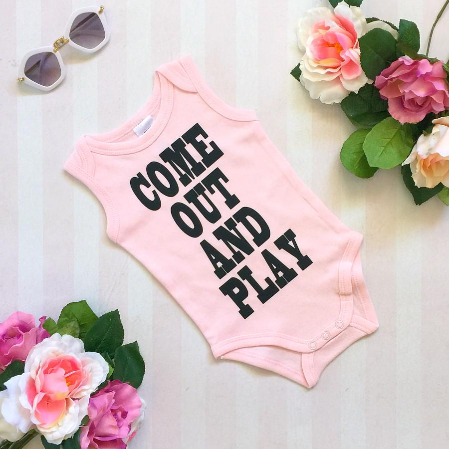 Come Out and Play Pink Onesie