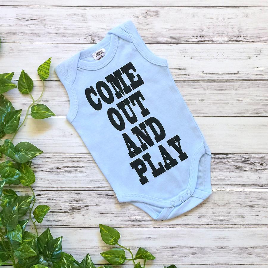 Come Out and Play Boys Onesie in Blue