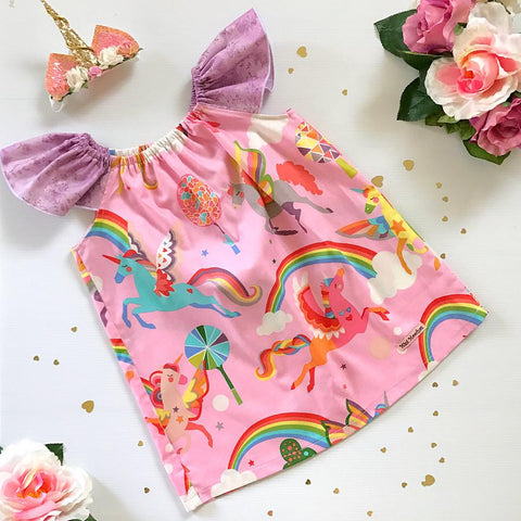 Pink Unicorns Ruby Dress