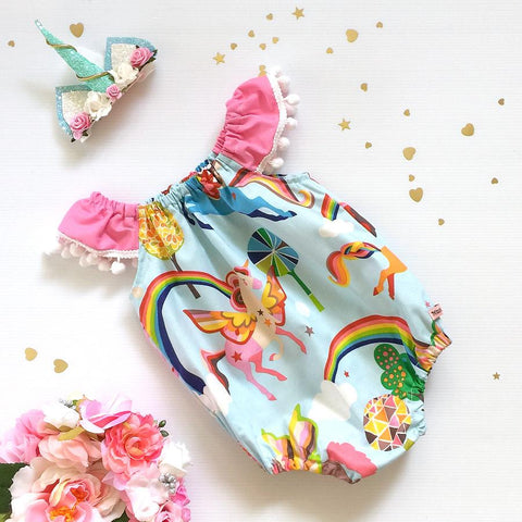 Rainbows & Unicorns Seaside Romper