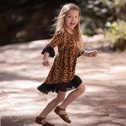 Leopard boho style dress, Handmade in Australia. Available in sizes 2-8