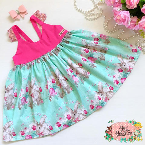 Cute as a Bunny Hummingbird Dress