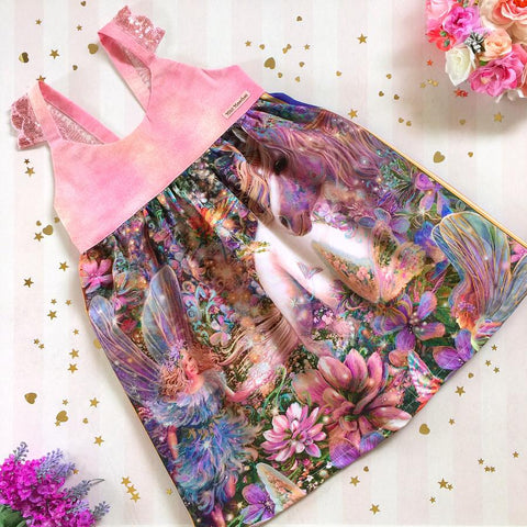 Unicorn Wonderland Hummingbird Dress - Pre Order